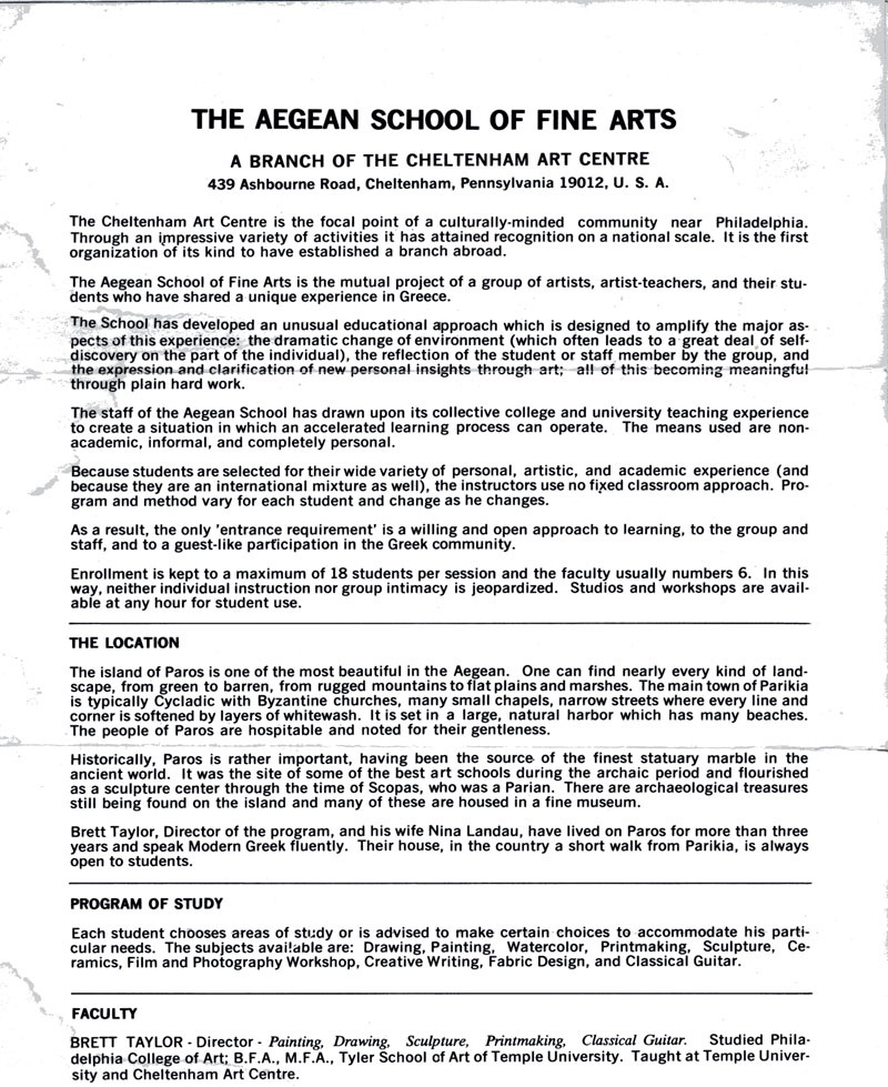 Process Essay Thesis From The Archives  Aegean Center Brochure What Is A Thesis In An Essay also Theme For English B Essay Alumni  The Chronicle  Page  What Is Business Ethics Essay