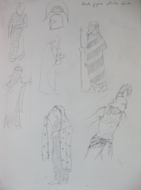 Idea Sketches from Greek Vase Paintings