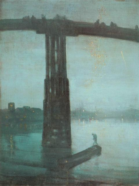 """Nocturne: Blue and Gold - Old Battersea Bridge,"" James McNeil Whistler"