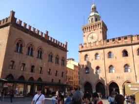 In the Piazza Maggiore of Bologna