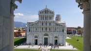 View of the Cathedral of Pisa and the Leaning Tower from the Baptistery of Pisa