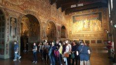The Aegean Center touring the Palazzo Pubblico in Siena
