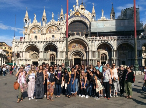 The Aegean Center in front of the Basilica of San Marco, Venice