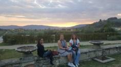The sunset over Pistoia