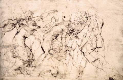 Raphael Study - Fighting scene